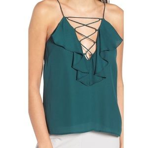 WAYF Green Ruffle Cami from Nordstroms